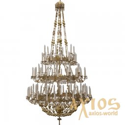 Chandelier, 3 levels, 81 candles С 06-81-3 - фото