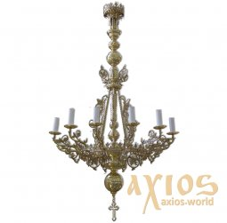 Chandelier, one level 12 candles С 02-12-1 - фото