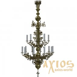 Chandelier 2 tiered, 15 candles  С 02-15-2 - фото