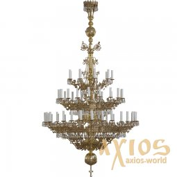 Chandelier, 3 tiers, 57 candles, С 02-57-3 - фото