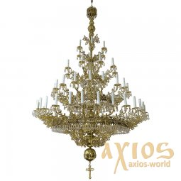 Chandelier, 3 tiers, 57 candles, С  03-57-3 - фото