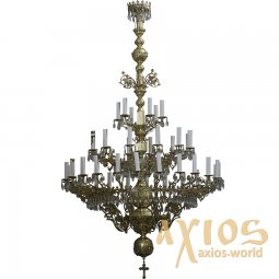 Chandelier, 3 tiered, 42 candles С 01-42-3 - фото