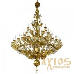 Chandelier, 4-tiered, 66 candles С 01-66-4 - фото