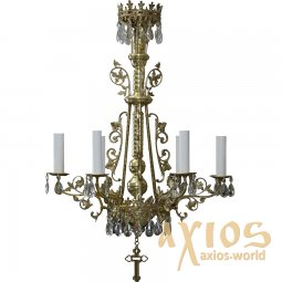 Chandelier, one tires, 6 candles С 02-6-1 - фото