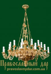 1-tiered chandelier for 24 candles - фото