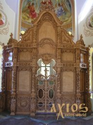 Iconostasis number 1 hand carving, Baroque, 5x4.5 meters, under the gilding - фото