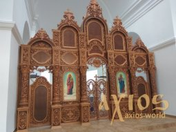 Iconostasis number 8, hand carving, Baroque, 6x6, 5 meters - фото