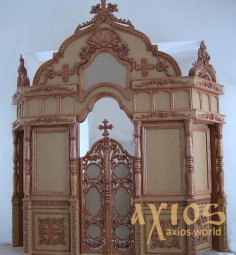 Iconostasis Simple, hand-carved, Baroque 5x3.5 m - фото