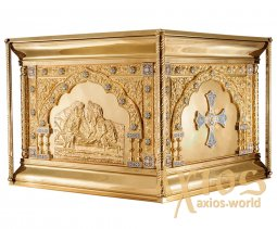 The altar is metal No. 4, gilded with brass cornices for varnish, enamel - фото