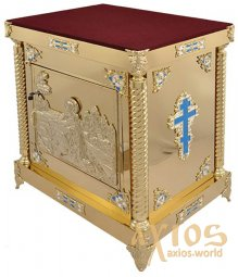 The altar is 75x85 cm, damask, plywood, casting, demountable - фото