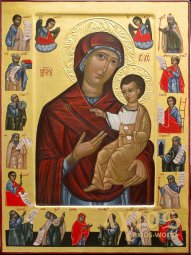The written icon of the Virgin Hodegetria with life, author Vitaly Gaidar - фото