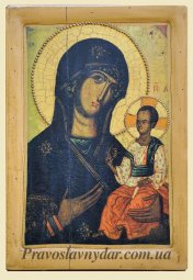 Icon of the Virgin Hodegetria of Volyn (XIII century) - фото