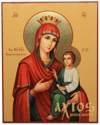 Icon of the Mother of God. Skoroposlushnitsa, 32х40 cm (without a kiot) - фото
