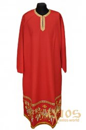 Inner Rason,  red color, with embroidery «Grapes» - фото