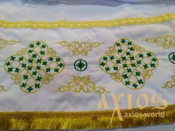 Inner Rason, embroidery with gold and green threads - фото