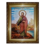 Amber icon Saint Apostle Paul 40x60 cm