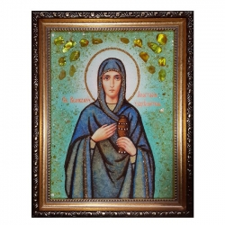 The Amber Icon of Saint Anastasia The Insectress of 40x60 cm - фото