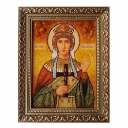 The Amber Icon The Holy Martyr Queen Alexandra 30x40 cm - фото
