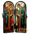 Icon under the old days Saints Archangels Michael and Gabriel Skladen double 10x30 cm
