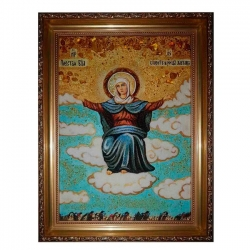 The Amber Icon The Most Holy Theotokos The Spiritess of Breads 15x20 cm - фото