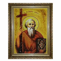 The amber icon The Holy Apostle Andrew the First-Called 30x40 cm - фото