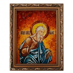 Amber Icon Holy Righteous Protector Adam 30x40 cm - фото