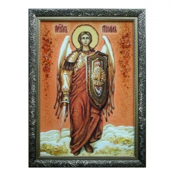 Amber Icon of the Holy Archangel Michael 40x60 cm - фото