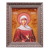 The Amber Icon of Saint Righteous Elizabeth 30x40 cm