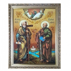The Amber Icon The Holy Apostles Peter and Paul 30x40 cm - фото