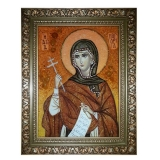 The Amber Icon The Holy Martyr Margarita (Marina) 30x40 cm