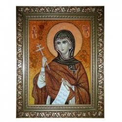 The Amber Icon The Holy Martyr Margarita (Marina) 30x40 cm - фото
