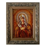 Amber Icon of the Most Holy Theotokos. Affection 30x40 cm