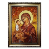 The Amber Icon The Blessed Virgin The Three-Handed Woman 15x20 cm