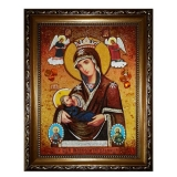 Amber Icon of the Mother of God Mammal 60x80 cm