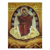 The Amber Icon The Most Holy Theotokos The Spiritess of Breads 15x20 cm
