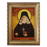 The Amber Icon The Reverend Leo of Optina 15x20 cm