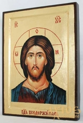 Icon of the Lord Almighty in gilding Greek style without a casket - фото