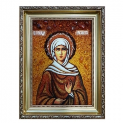 Amber Icon Holy Righteous Elizabeth 40x60 cm - фото