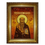 Amber Icon of the Blessed Jerome 15x20 cm