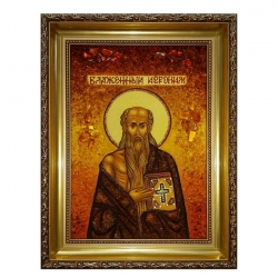 The amber icon Blessed Jerome 40x60 cm - фото