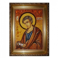 The Amber Icon of St. Philip the Apostle 80x120 cm - фото