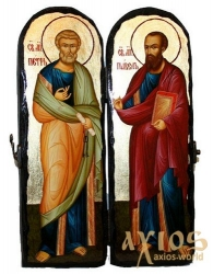 The icon under the old days The Holy Apostles Peter and Paul Skladen double 10x30 cm - фото