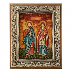 The Amber Icon The Holy Martyrs Sergius and Bacchus 15x20 cm - фото