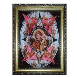 Amber Icon of the Blessed Virgin Mary Burning Bush 40x60 cm