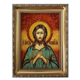 The Amber Icon of St. Alexius The Man of God 40x60 cm