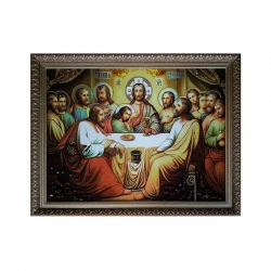 Amber Icon of the Last Supper 40x60 cm - фото