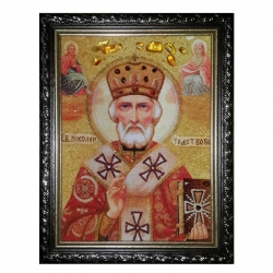 The Amber Icon Saint Nicholas the Wonderworker 30x40 cm - фото