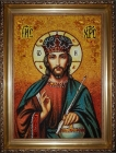 Amber Icon The Lord Jesus Christ the Almighty 30x40 cm