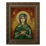 Amber Icon Holy Righteous Mary 30x40 cm