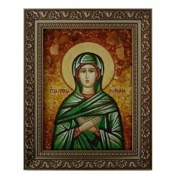 Amber Icon Holy Righteous Mary 30x40 cm - фото